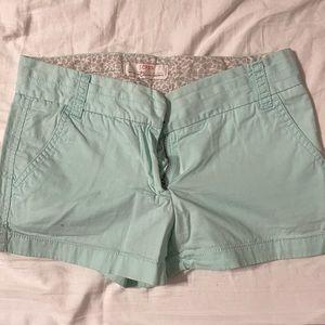 J crew linen chino shorts 100% cotton jcrew mint